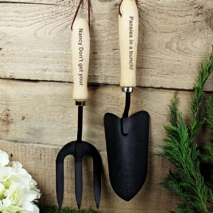 Personalised Garden Fork & Trowel Set